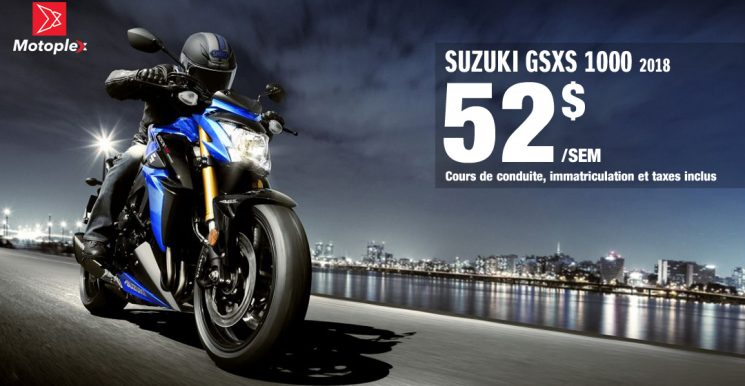 SUZUKI GSX-S1000: PROMOTION NOUVEAU CONDUCTEUR